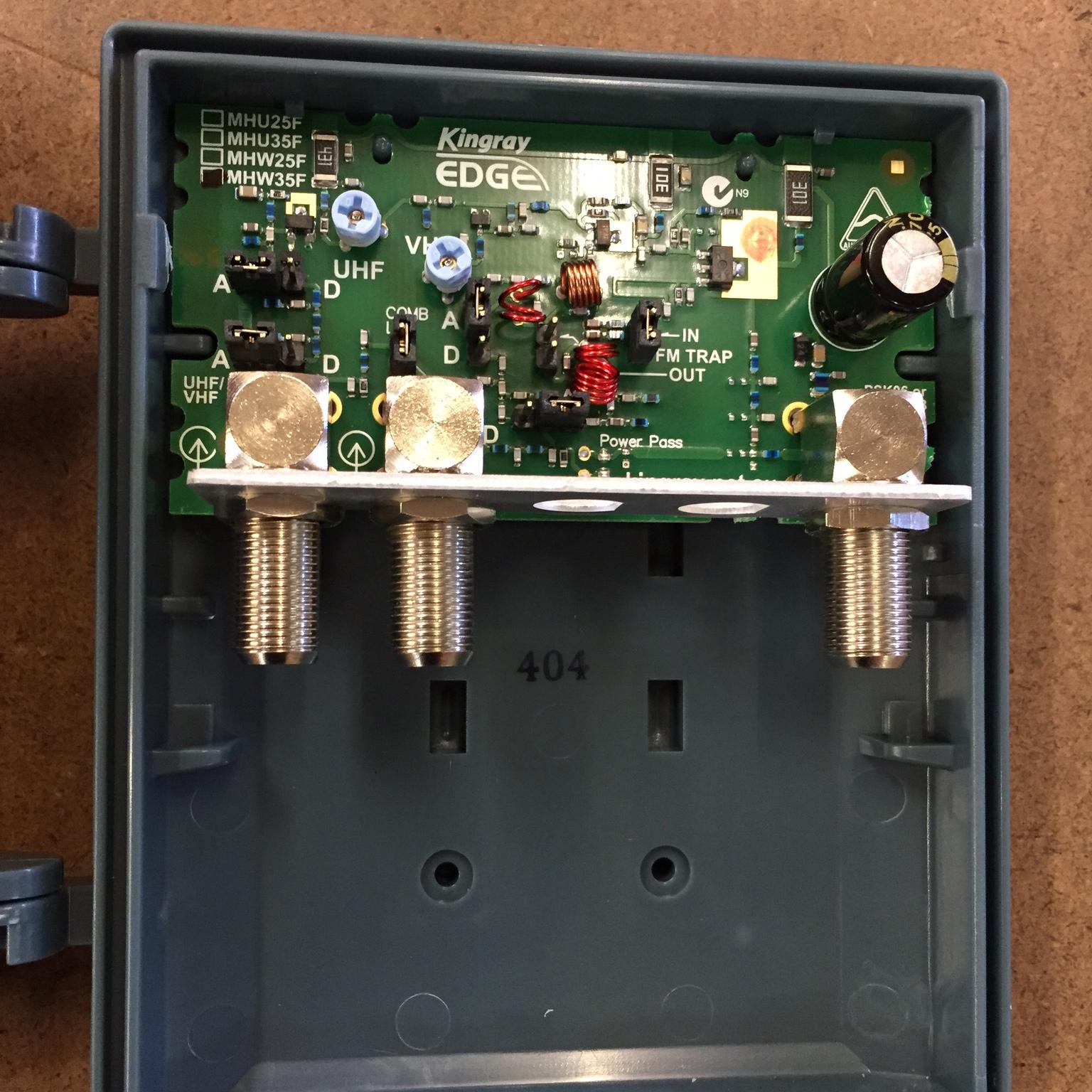 kingray masthead amplifier instructions
