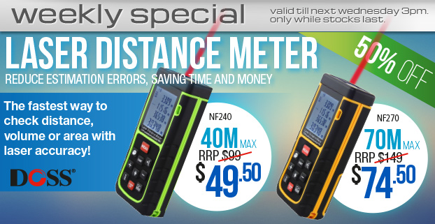 Weekly Special:DOSS LASER DISTANCE METERS!