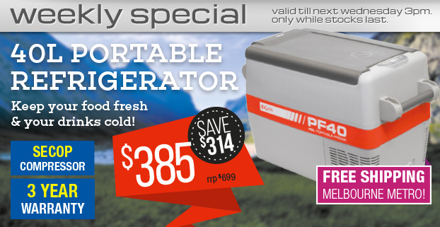 Weekly Special: Doss 40L 12/24V DC PORTABLE FRIDGE for just $385