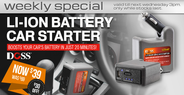 Weekly Special:LI-ION BATTERY CAR STARTER-now $39
