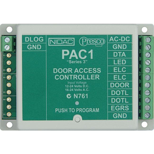 PRESCO PAC1 SINGLE DOOR ACCESS CONTROLLER PRESCO - Radio Parts ...
