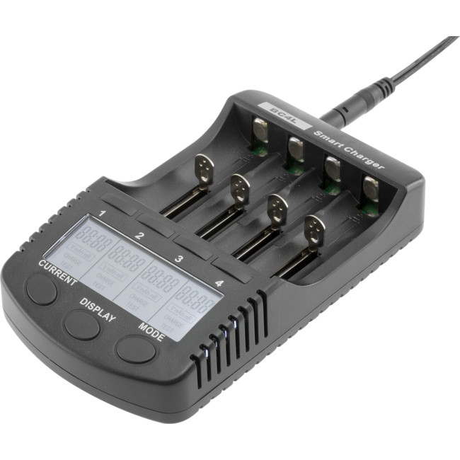 BC4L DUAL OUTPUT BATTERY CHARGER FOR LI-ION OR NI-MH/CD