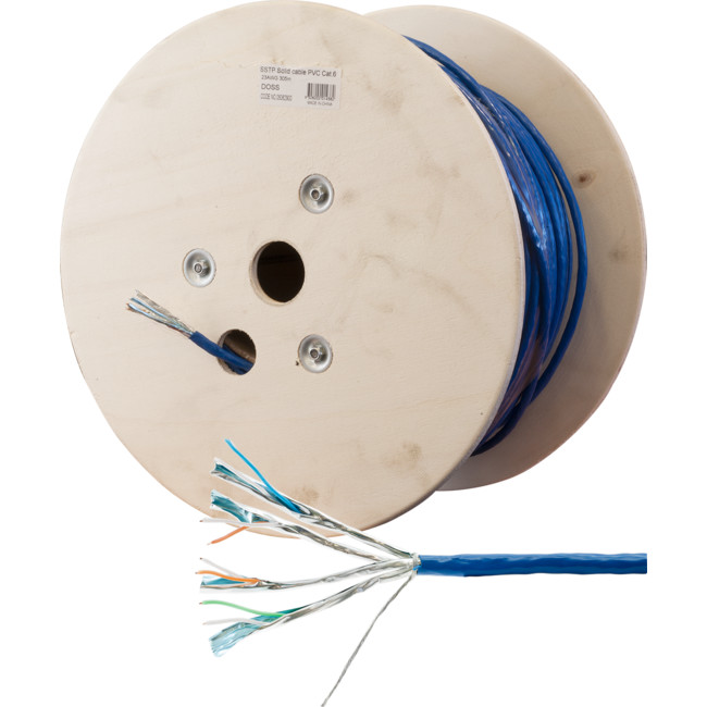 SSTPCAT6BL-305M SSTP CAT6 SOLID CABLE BLUE 305M SHIELDED (PER ROLL REEL)