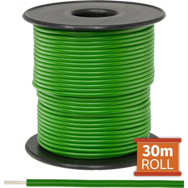 21-.08GRN-30M 30M GREEN HOOKUP WIRE/ CABLE (SOLD AS A ROLL OF 30M)