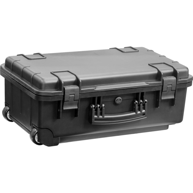 FS559B 559X360X229MM WATERPROOF BLACK PLASTIC CASE (WITH WHEELS AND TELESCOPIC HANDLE)