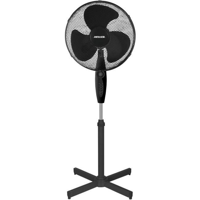 Pedestal Fan Parts : Heller pf bk cm oscillating pedestal fan black with