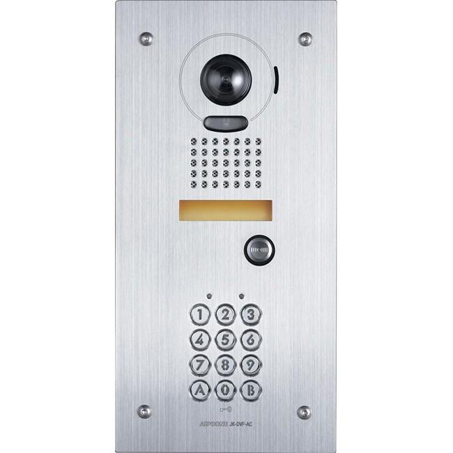 aiphone jkdvfac flush mount video door station with ac10 keypad aiphone radio parts. Black Bedroom Furniture Sets. Home Design Ideas