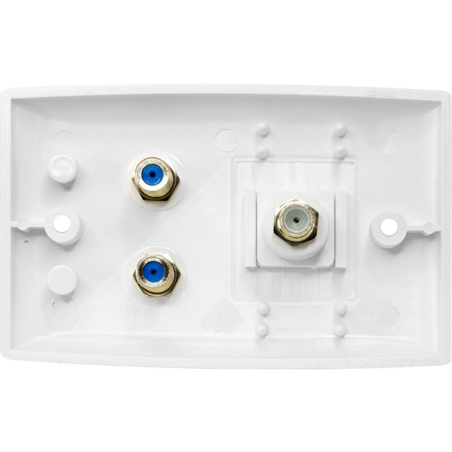 Pr3884 Twin F Amp Pal Wall Plate Foxtel Approved Radio