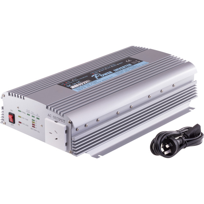 PIN1000C 1000W 12VDC-240AC INVERTER WITH BATTERY/SOLAR INPUTS