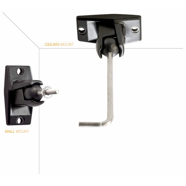 Omnimount Om10 0wcb Wall Ceiling Speaker Bracket 4 5kg Max