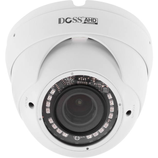DM30AHDW5M DOME 4-IN-1 2.8-12MM LENS 5MP 20M IR ANALOG HD CAMERA – WHITE