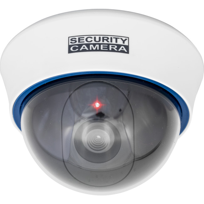 DCDM30W WHITE DUMMY DOME CAMERA WITH LED FLASH LIGHT