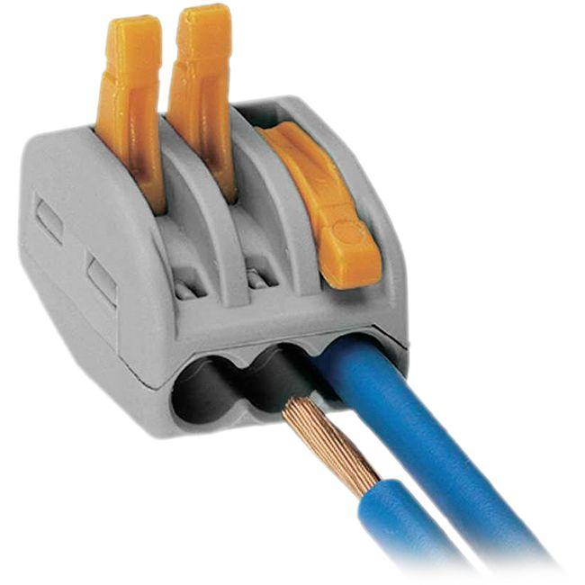 wago 222 413 28awg 32a 3pole terminal block grey wago orange lever nuts radio parts. Black Bedroom Furniture Sets. Home Design Ideas