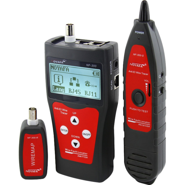 NF300 NETWORK COAX CABLE TESTER WITH PORT FLASHING