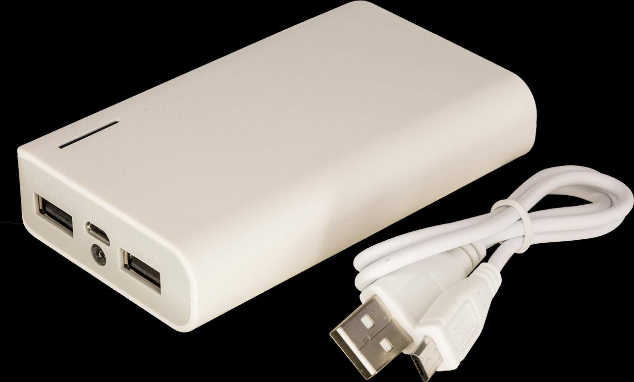PB7800WHT 7800MAH DUAL OUTPUT POWER BANK 1A & 2.1A OUTPUT FOR IPAD – WHITE