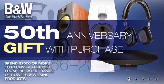 B&W 50th ANNIVERSARY GIFT WITH PURCHASE! Promotion