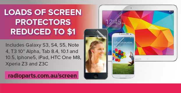 Loads of screen protectors reduced to $1