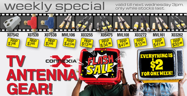 Connexia - TV Antenna Gear! Only $2 for one week