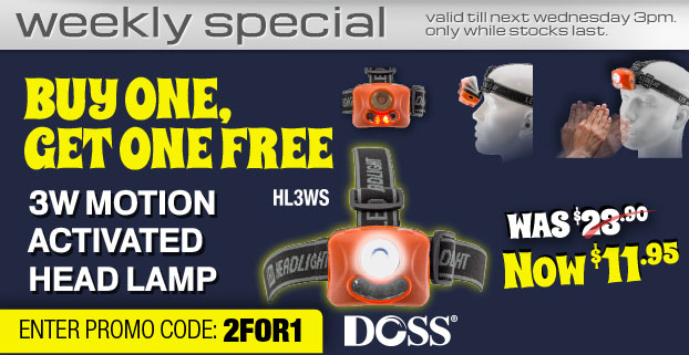 DOSS - 2for1 3W MOTION ACTIVATED HEAD LAMP