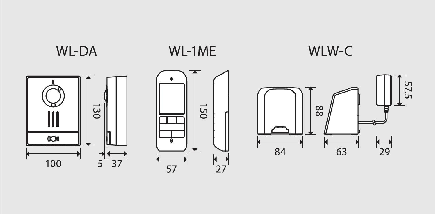 Aiphone Wl11 19ghz Wireless Video Intercom Radio Parts Circuit Diagram Of Transistor System Unit Dimensions