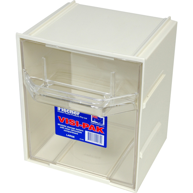 Damaged Kitchen Cabinets For Sale: FISCHER PLASTIC 1H042-RFB VISIPAK STORAGE DRAWER DAMAGED