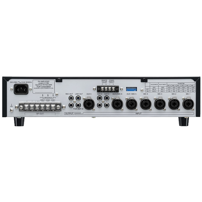 Groovy Toa A1724 240W Mic Mixer Pa Amplifier 6X Mic 3X Aux Inputs Toa Wiring Digital Resources Indicompassionincorg