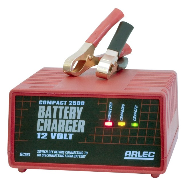 Arlec Bc228 2 5amp Auto Battery Charger Dual Voltage 6v Or