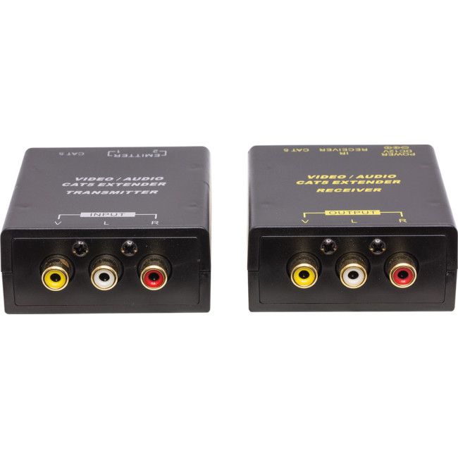 3 RCA//Phono /& IR Over 300m CAT5e//CAT6 Cable Extender Balun Kit AV Audio Video