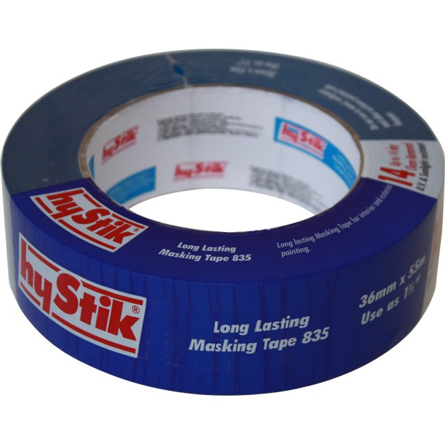 Hystik 835mt36 14 day outdoor masking tape 36mm x 55mt roll long lasting radio parts for Exterior masking tape