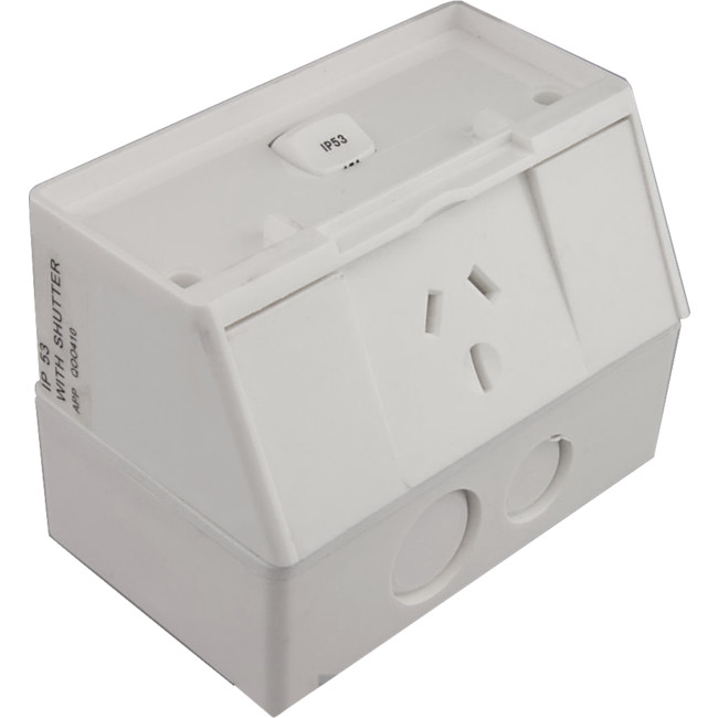 Transco P1wp Ip53 Single Power Point 10a Outdoor