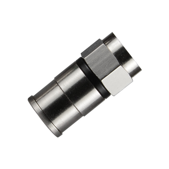 4x F-Type Push-on Male//Female Adapter Connector Right Angle Coax Coaxial Cable
