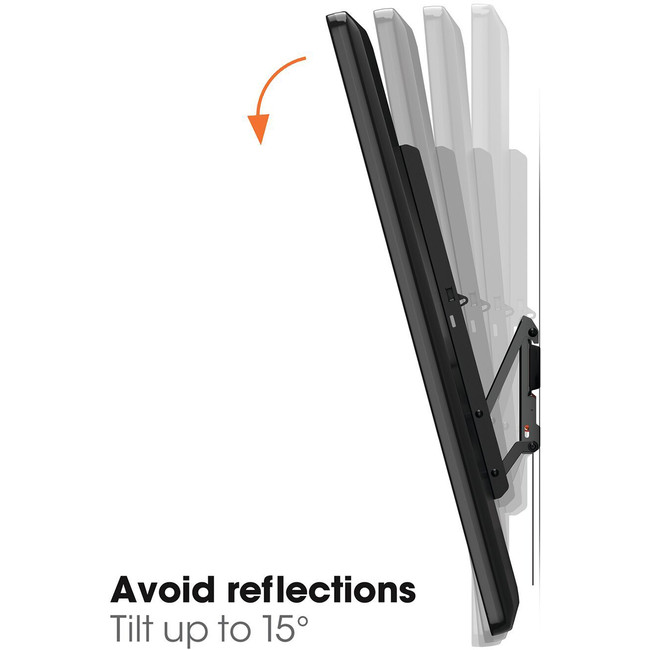 Avoid reflections with up to 15 degrees Tilt