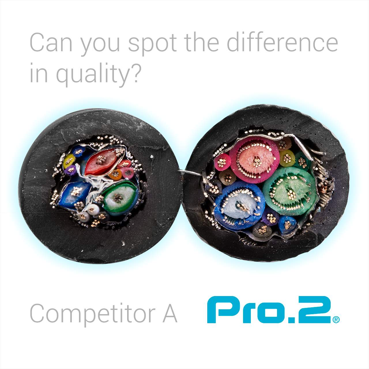 Comparison with a leading competitor's VGA lead