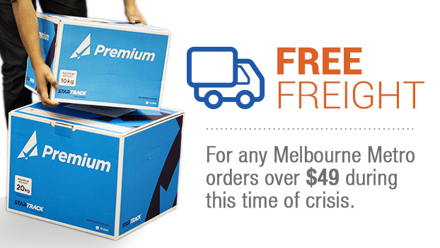New Free Shipping for Melbourne Metro orders over $45