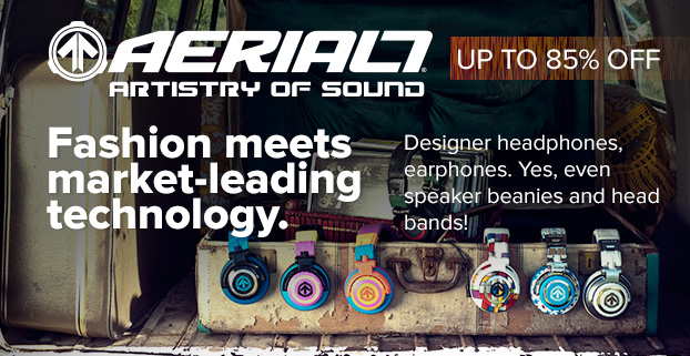 AERIAL7 headphones - Fashion meets market-leading technology.