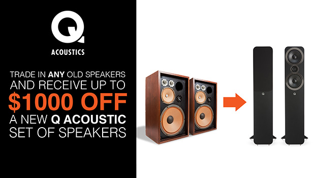 For the first time ever, trade in your old speakers and upgrade to a multi-award-winning Q Acoustic!