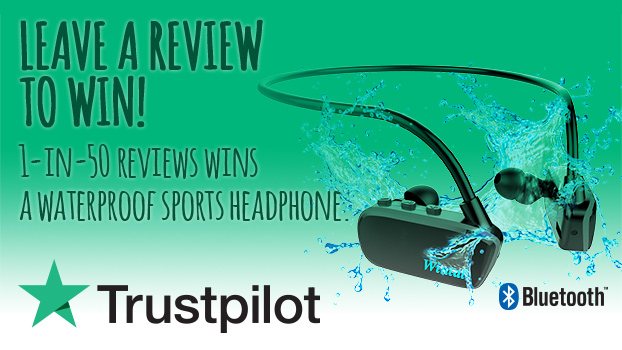 Leave a review for Radio Parts and be in the draw to win an awesome swimproof headphone!