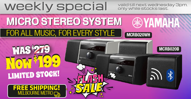 Yamaha-Micro Stereo System-Now $199