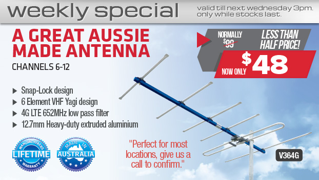 Radio Parts V364G 6 Element VHF Antenna - Only $48 this week!
