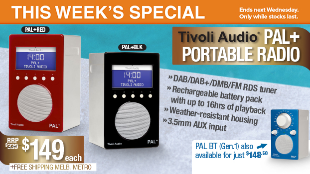 Tivoli Audio PAL+ Portable Radios, only $149each this week